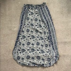 Ecoté floral maxi skirt with double slit